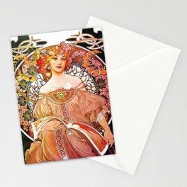 Alphonse Mucha Daydream Floral Vintage Art Nouveau Stationery Cards