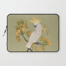 Cockatoo and Ginkgo Tree Laptop Sleeve
