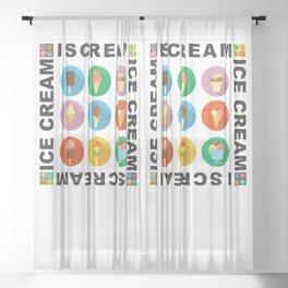 I scream 4 Ice Cream Sheer Curtain