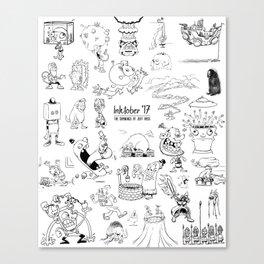 Inktober 2017 Canvas Print