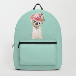 Llama with Flowers Crown #3 Backpack