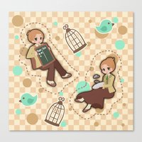 bioshock infinite Canvas Prints featuring Bioshock Infinite - Luctece Twins by Choco-Minto