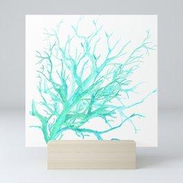 Coral reef in blue Mini Art Print