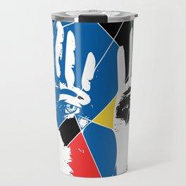 Mystic Hands Vintage Graphic Design Art Decoration Travel Mug