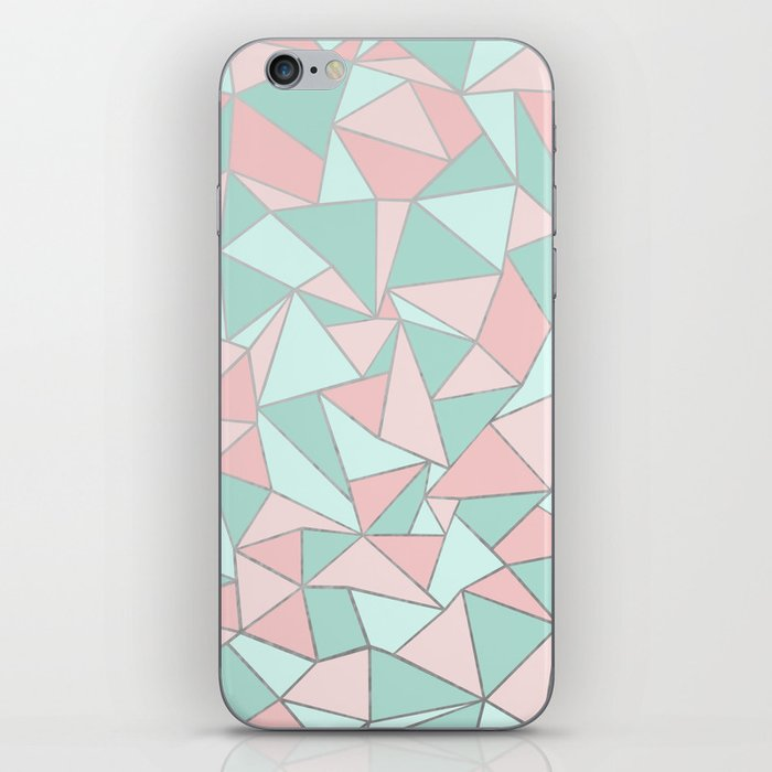 Ab Out Mint and Blush iPhone Skin