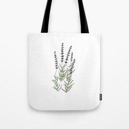 Lavender art print, ink and watercolor Tote Bag