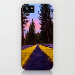 Down the Old Cabin Road iPhone Case