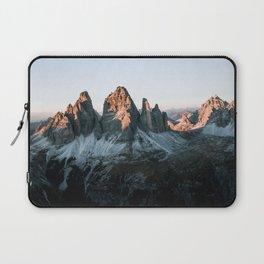 Dolomites sunset panorama - Landscape Photography Laptop Sleeve