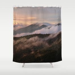 Clearing Storm, Craggy Gardens along Blue Ridge Parkway Shower Curtain