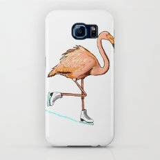 Flamingo on ice Galaxy S7 Slim Case