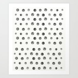 Bristle Polka Dot Art Print