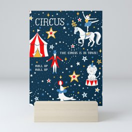 Retro Circus pattern Mini Art Print