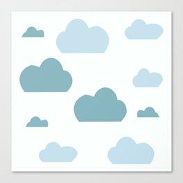 Cloud blue Canvas Print