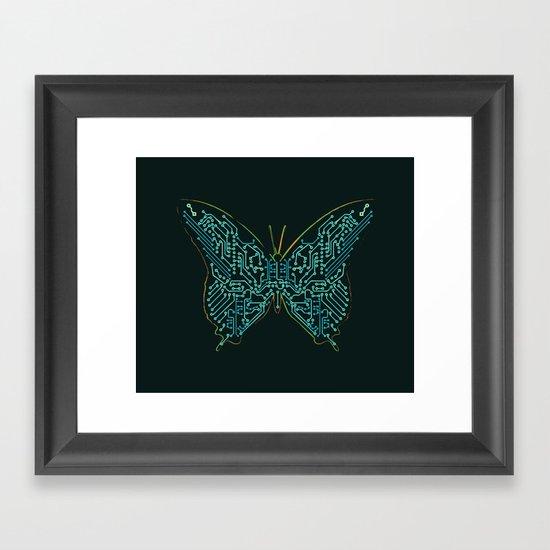 Mechanical Butterfly Framed Art Print