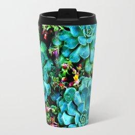 Beautiful Autumn plant green, blue Travel Mug