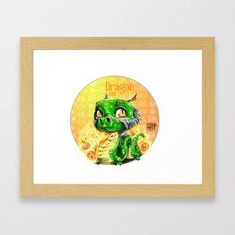 Chines dragon horoscope Framed Art Print