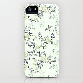 Mint Floral iPhone Case