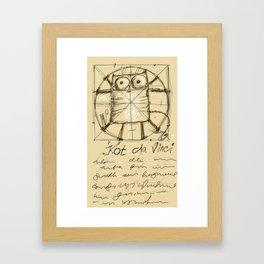 Kot da Vinci Framed Art Print