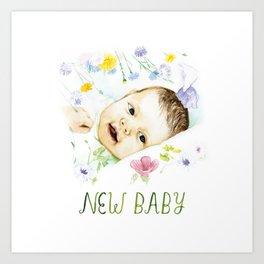 New Baby Art Print