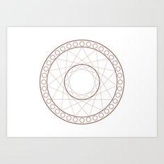 Anime Magic Circle 17 Art Print