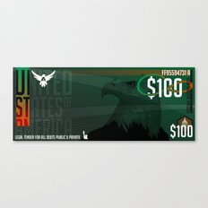 USD Currency // $100 Canvas Print