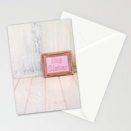 Empty bright interior with copy space and frame with text Stationery Cards