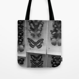 Butterfly Case - black and white Tote Bag