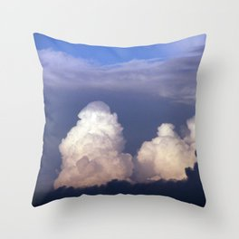Cloud towers in the Sky -  cumulonimbus Throw Pillow
