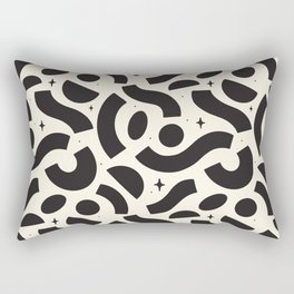 Macaroni Sky Black and White Rectangular Pillow