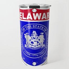 Delaware  Interstate Sign Travel Mug