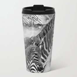 AnimalArtBW_Zebra_20170716_by_JAMColorsSpecial Travel Mug