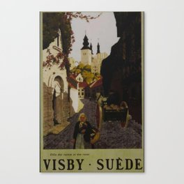 Visby Suede Travel Poster Canvas Print