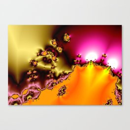 glowing frogs in pool Canvas Print