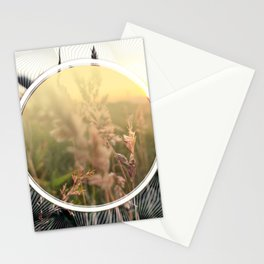 Peel sunset lll - circle graphic Stationery Cards