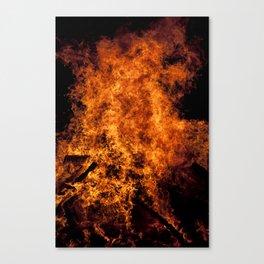 Burning Fire Canvas Print