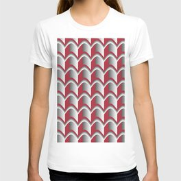 Abstract Red&Grey Pattern T-shirt