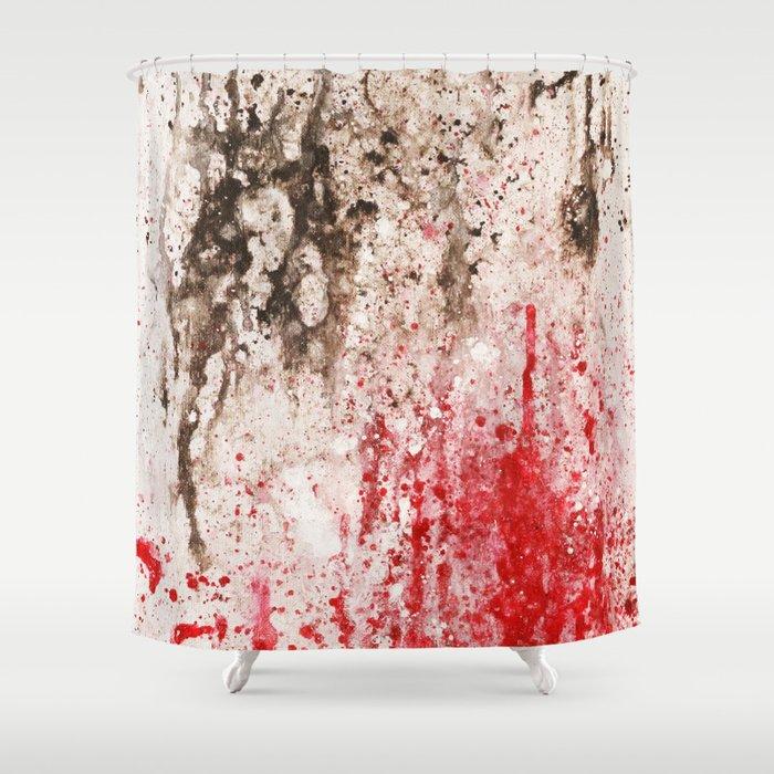 ink splash Shower Curtain