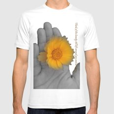 Be Happy. Mens Fitted Tee White MEDIUM