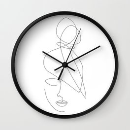 Hairstyle Lines Wall Clock