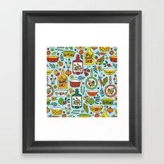 Retro Kitchen Framed Art Print