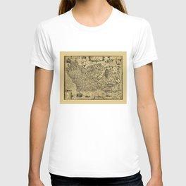 Baptista Boazio's Irlandiæ (Ireland Map circa 1606) T-shirt