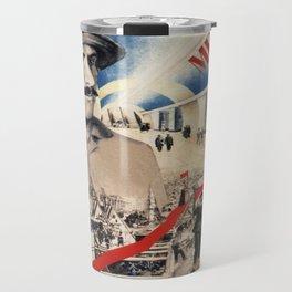 Vintage poster - Soviet Metro Travel Mug