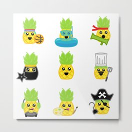 Pineapple Party! Metal Print