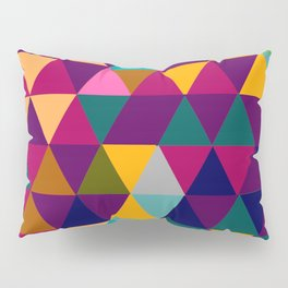 Multicolor triangle shapes pattern Pillow Sham