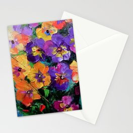 pansies Stationery Cards