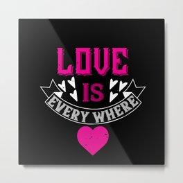 Be My Valentines Day Love - 28 Metal Print