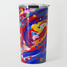Abstract Wave Persuasion  Travel Mug