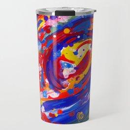 Abstract Wave Persuasion  Travel Mug