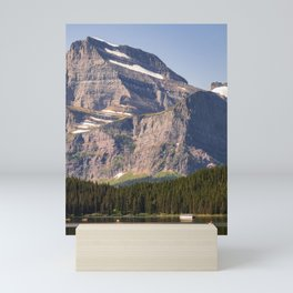 Grinnell Point and Swiftcurrent Lake in Glacier National Park Mini Art Print