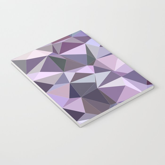 Happy purple triangles Notebook